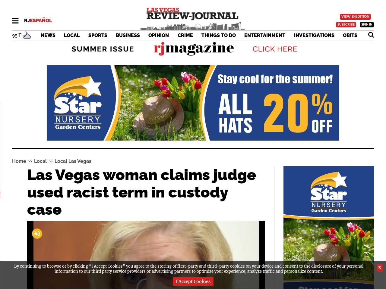Las Vegas woman claims judge used racist term in custody case