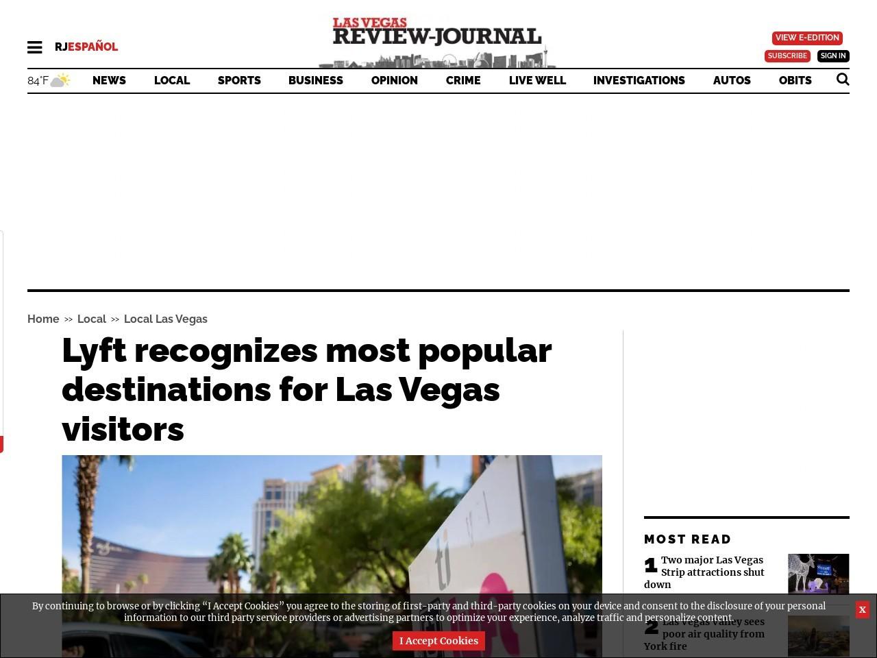 Lyft recognizes most popular destinations for visitors to Las Vegas
