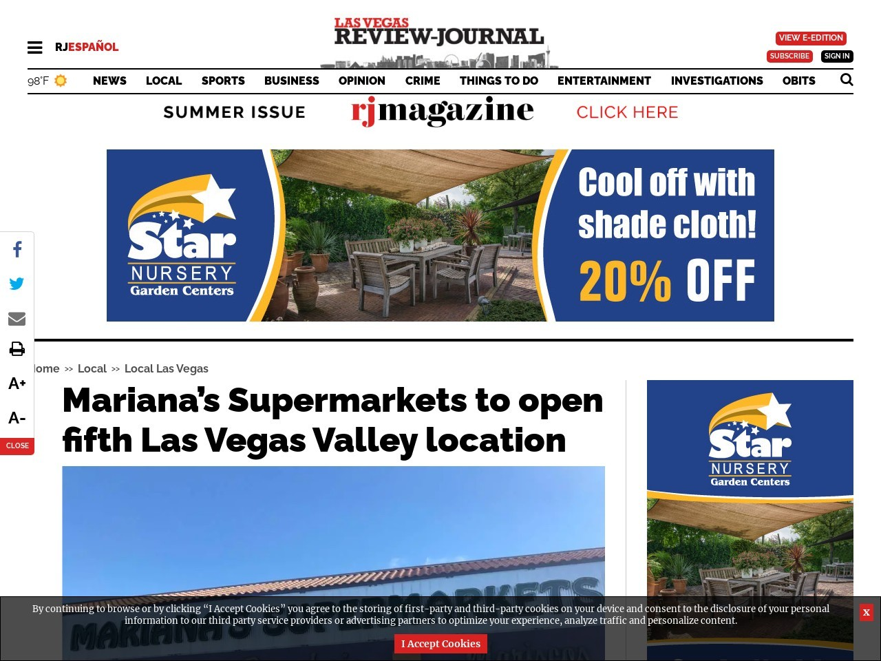 Mariana's Supermarkets to open fifth Las Vegas Valley location