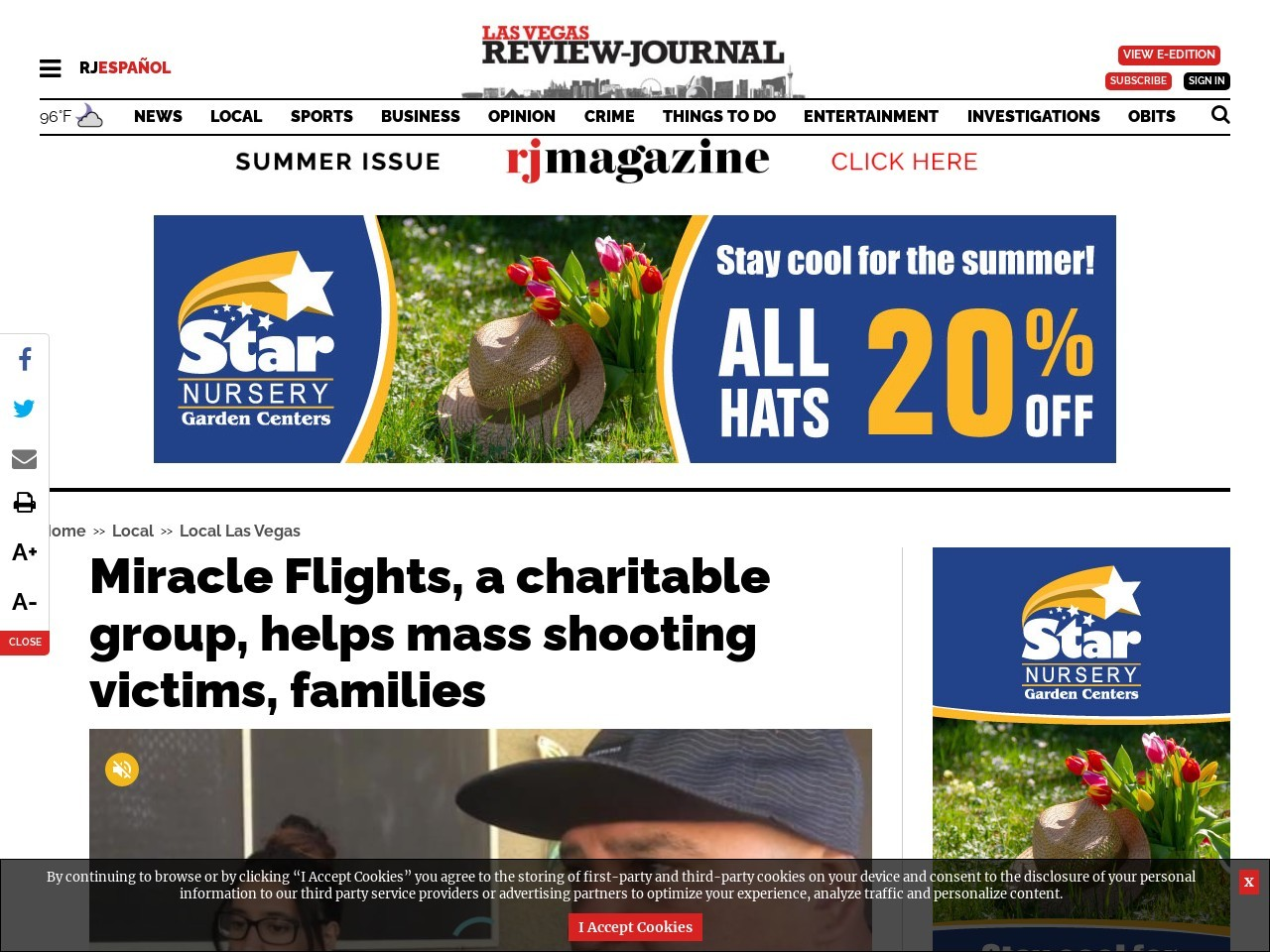 Miracle Flights, a charitable group, helps mass shooting victims, families
