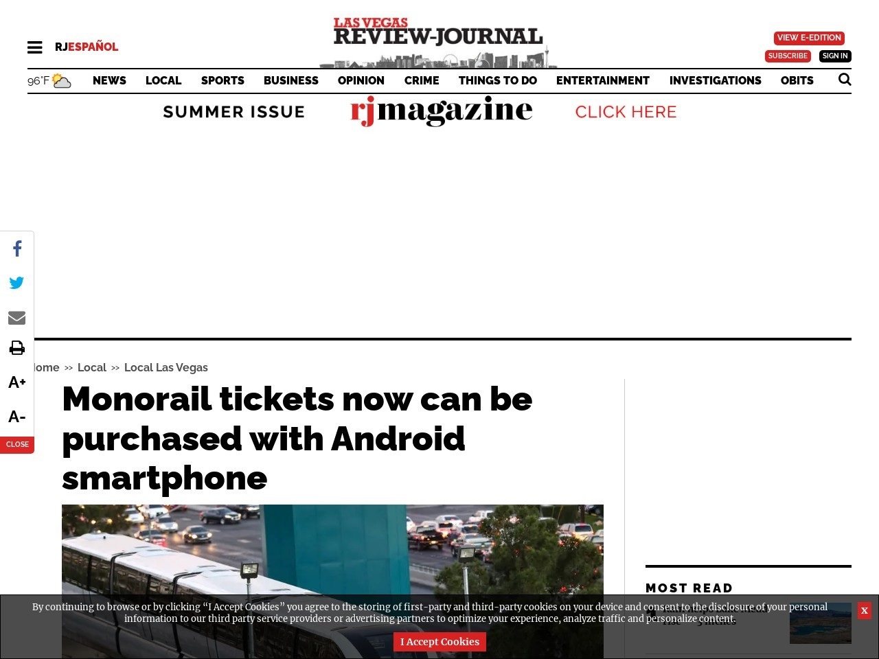Monorail tickets now can be purchased with Android smartphone