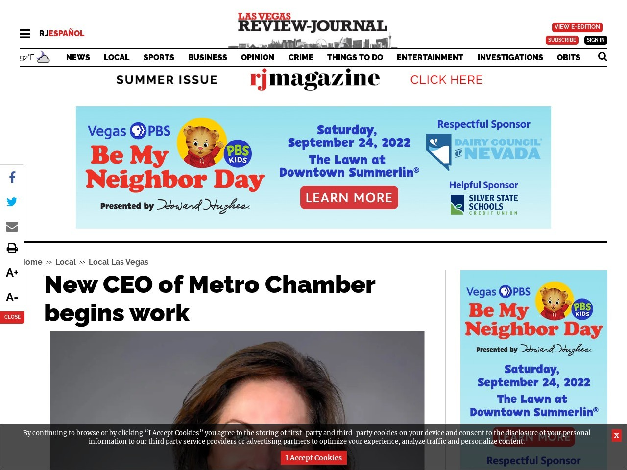 New CEO of Metro Chamber begins work