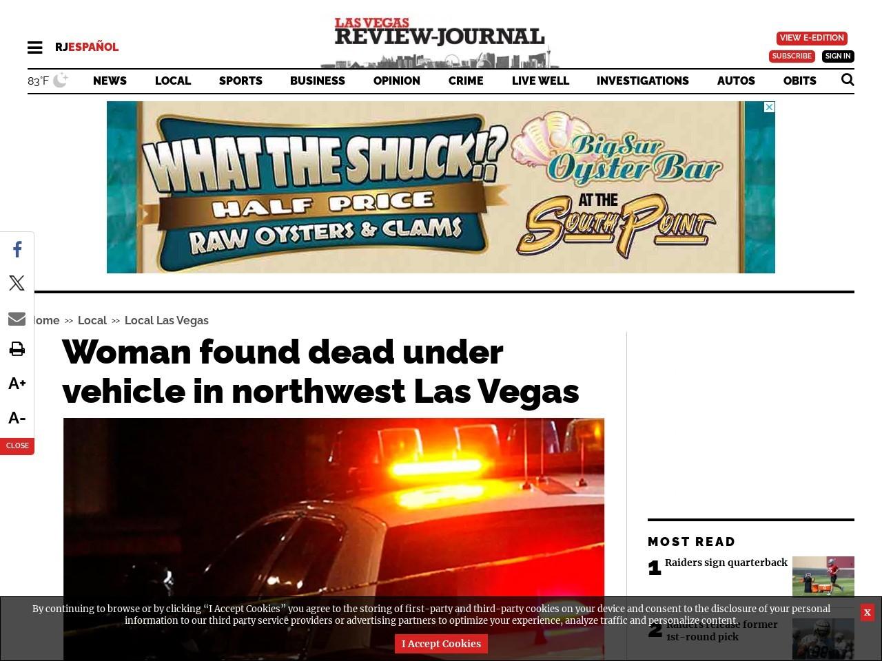 Pedestrian dies after being hit by Jeep in northwest Las Vegas