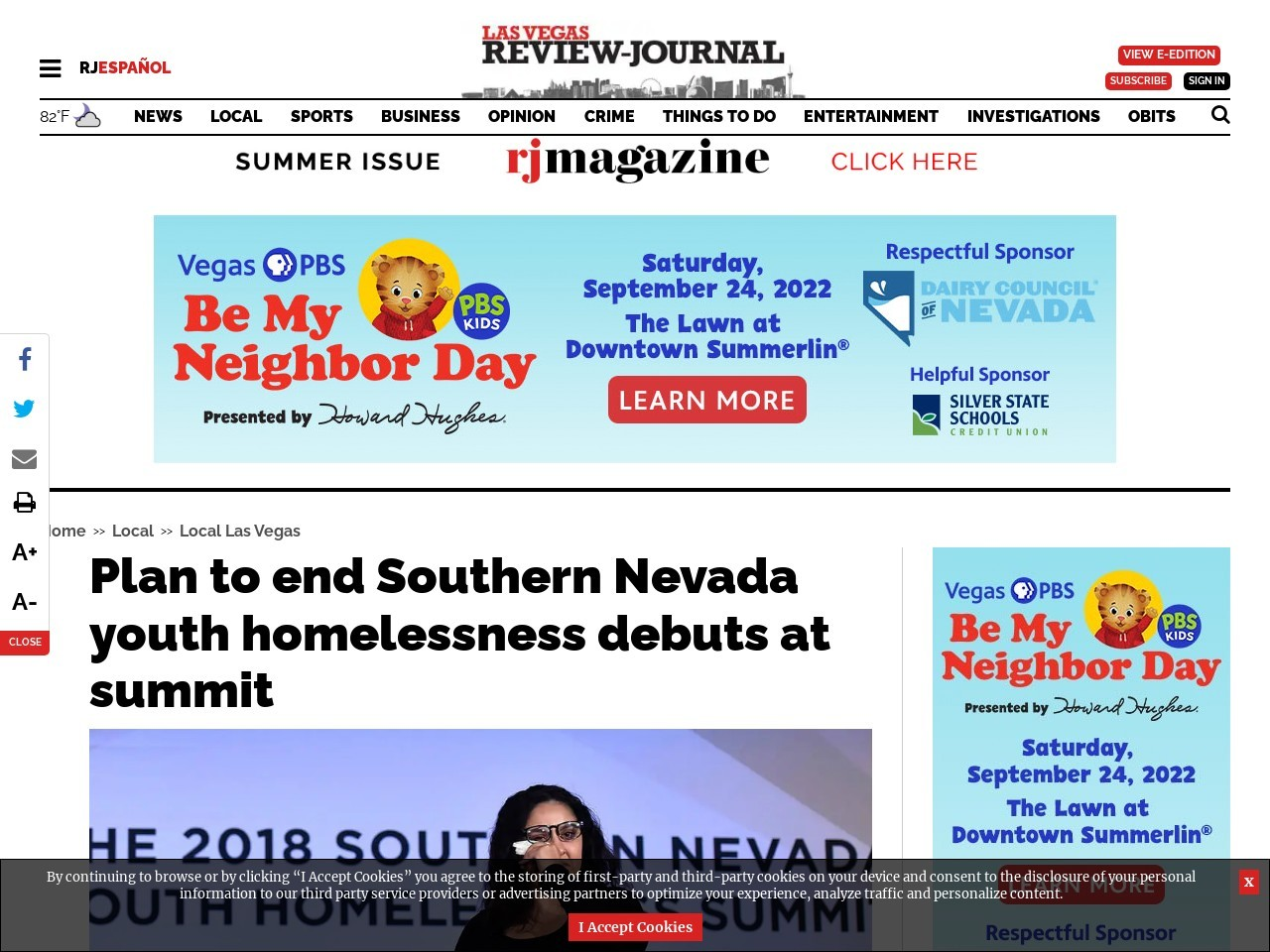 Plan to end Southern Nevada youth homelessness debuts at summit