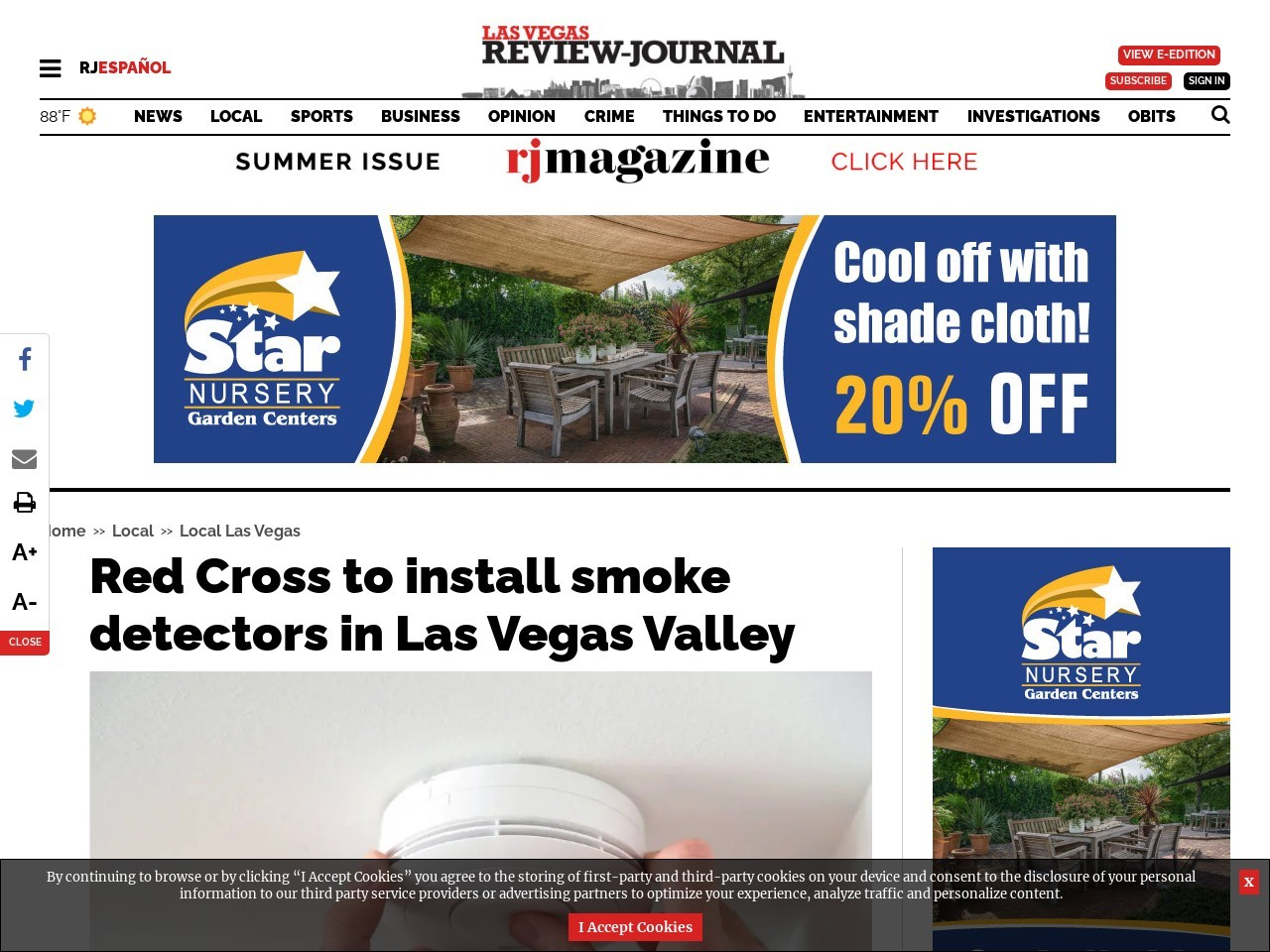 Red Cross to install smoke detectors throughout Las Vegas area