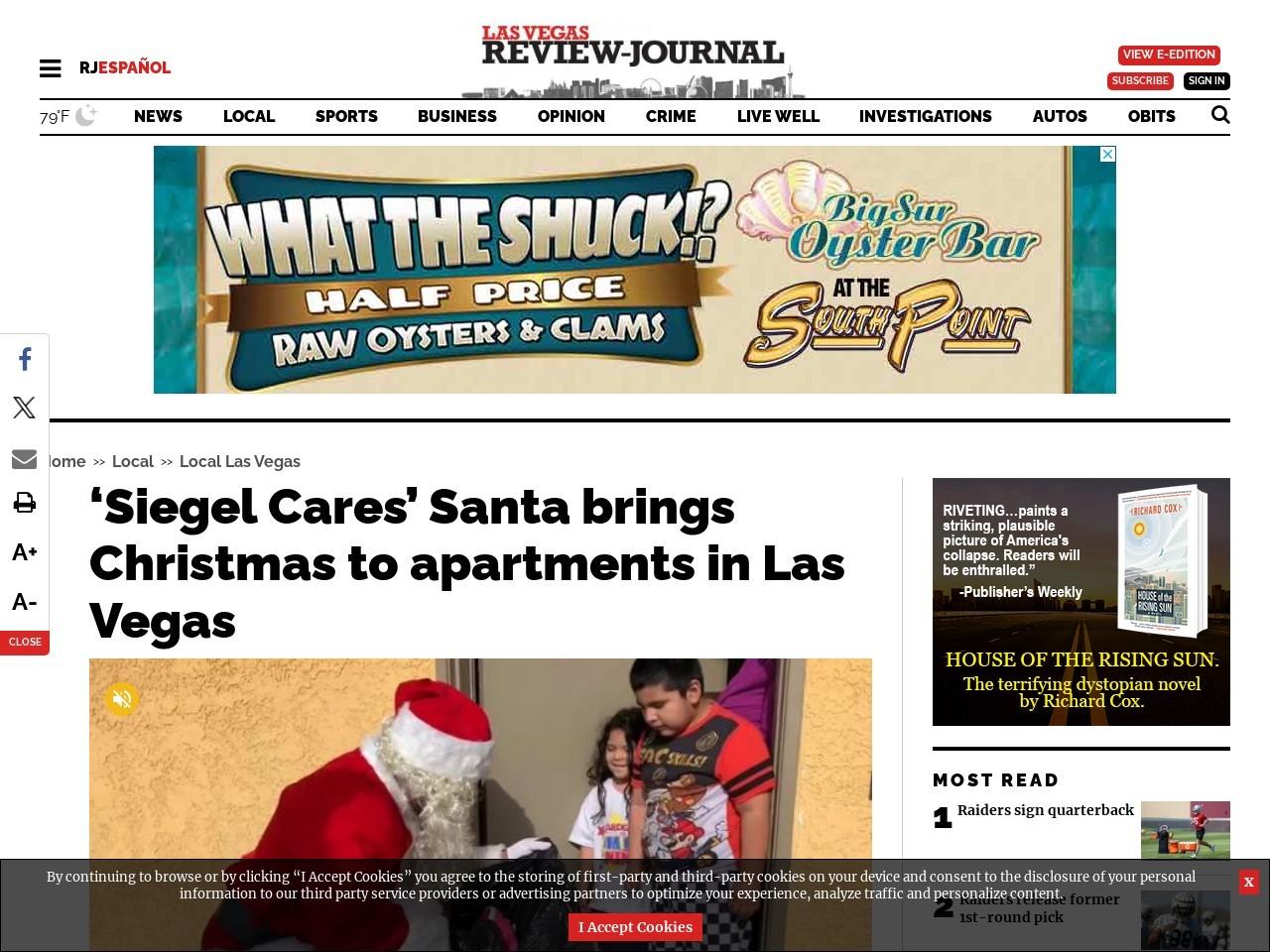 'Siegel Cares' Santa brings Christmas to apartments in Las Vegas