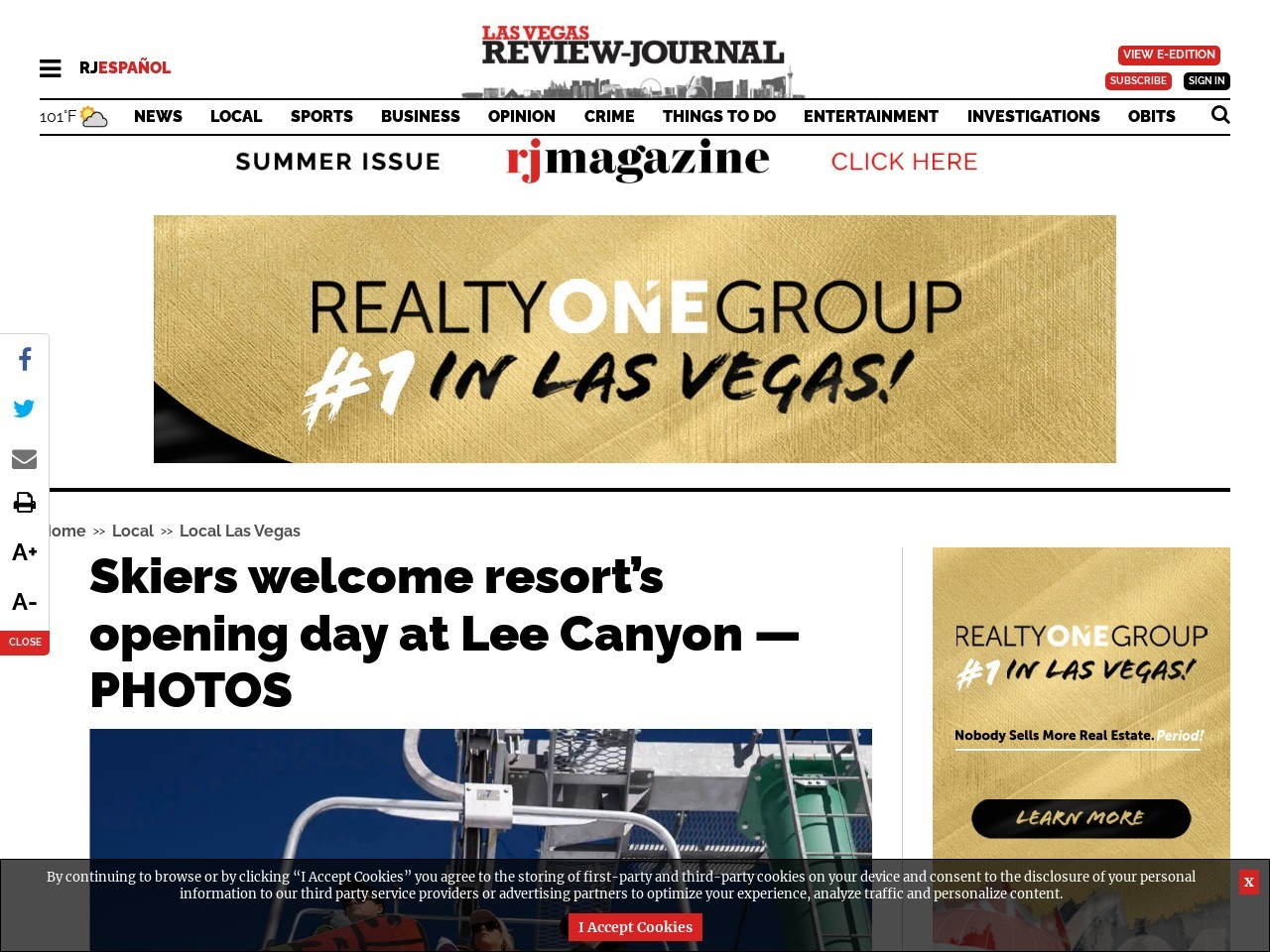Skiers welcome resort's opening day at Lee Canyon — PHOTOS