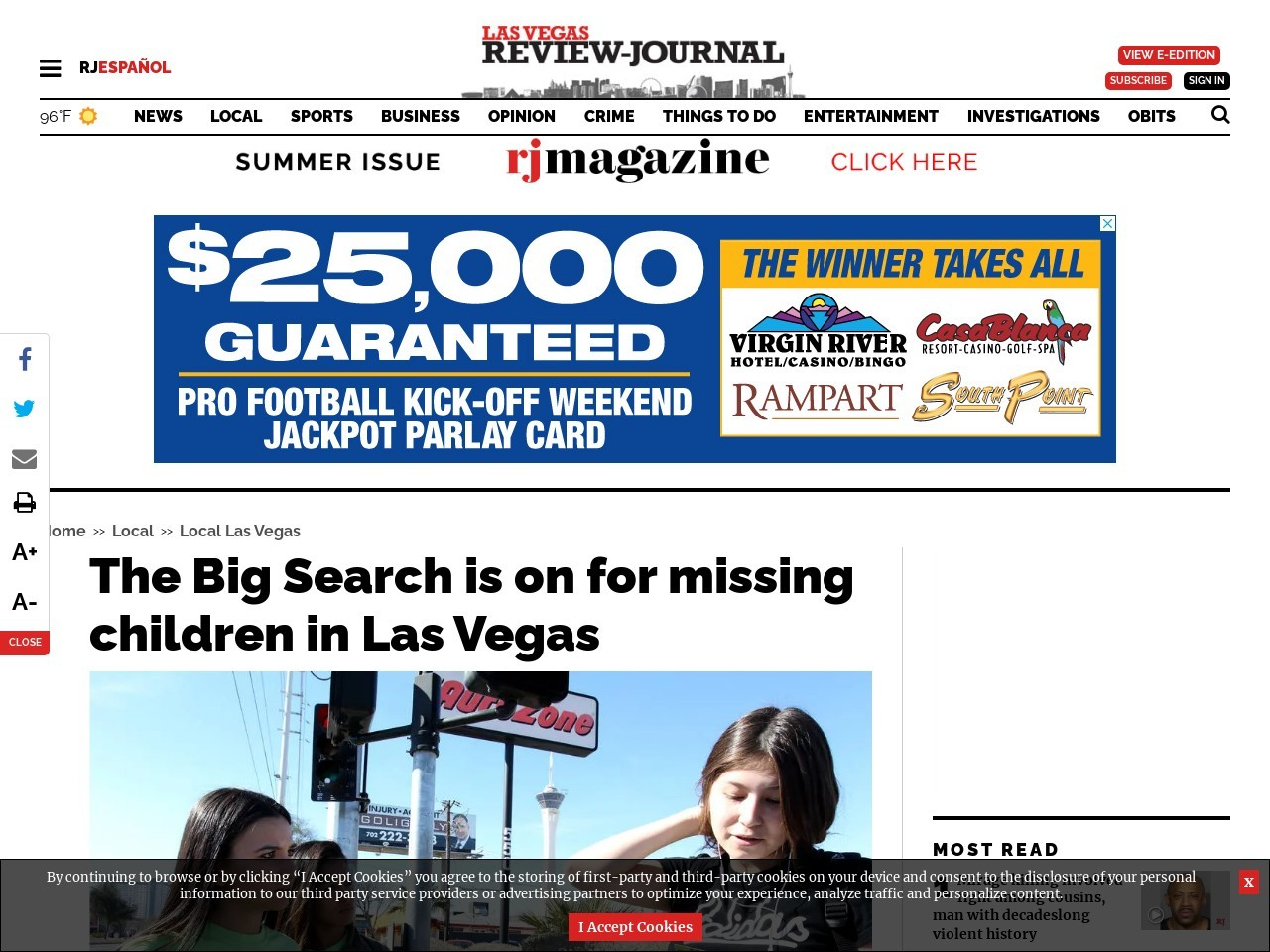 The Big Search is on for missing children in Las Vegas