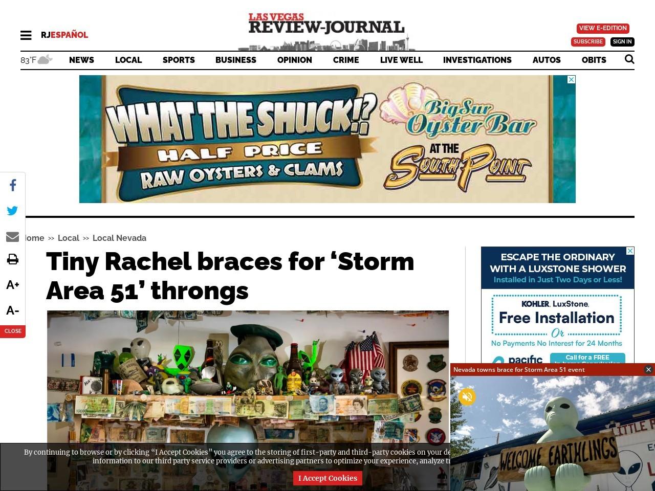 Tiny Rachel braces for 'Storm Area 51' throngs
