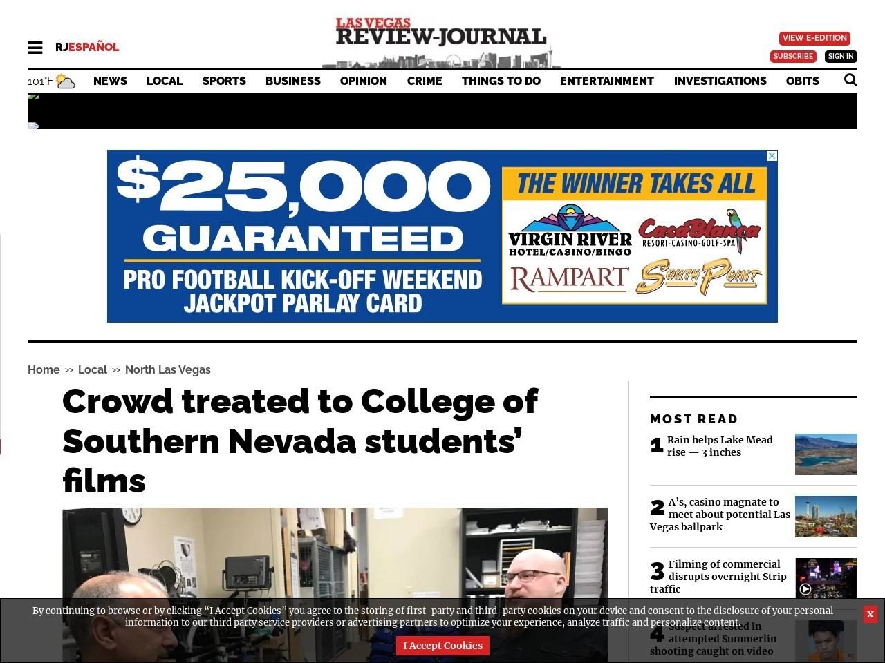 Crowd treated to College of Southern Nevada students' films