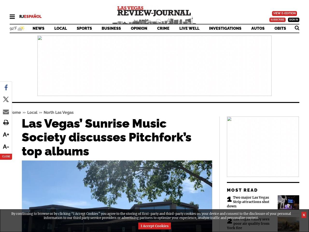 Las Vegas' Sunrise Music Society discusses Pitchfork's top albums