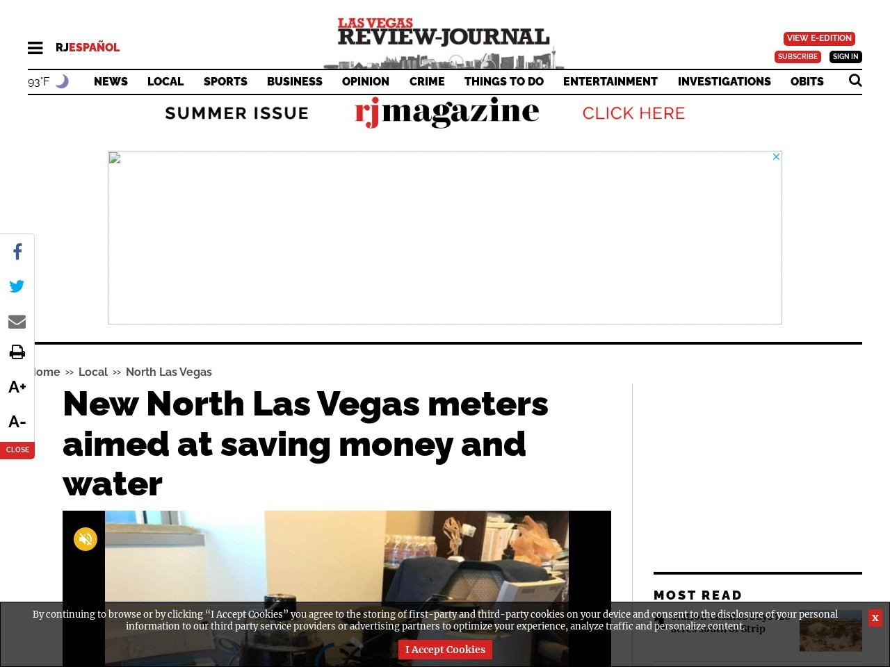 New North Las Vegas meters aimed at saving money and water
