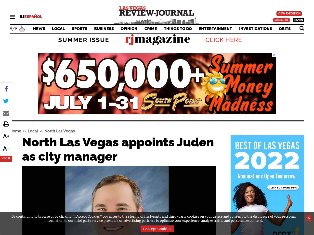 North Las Vegas appoints Juden as city manager
