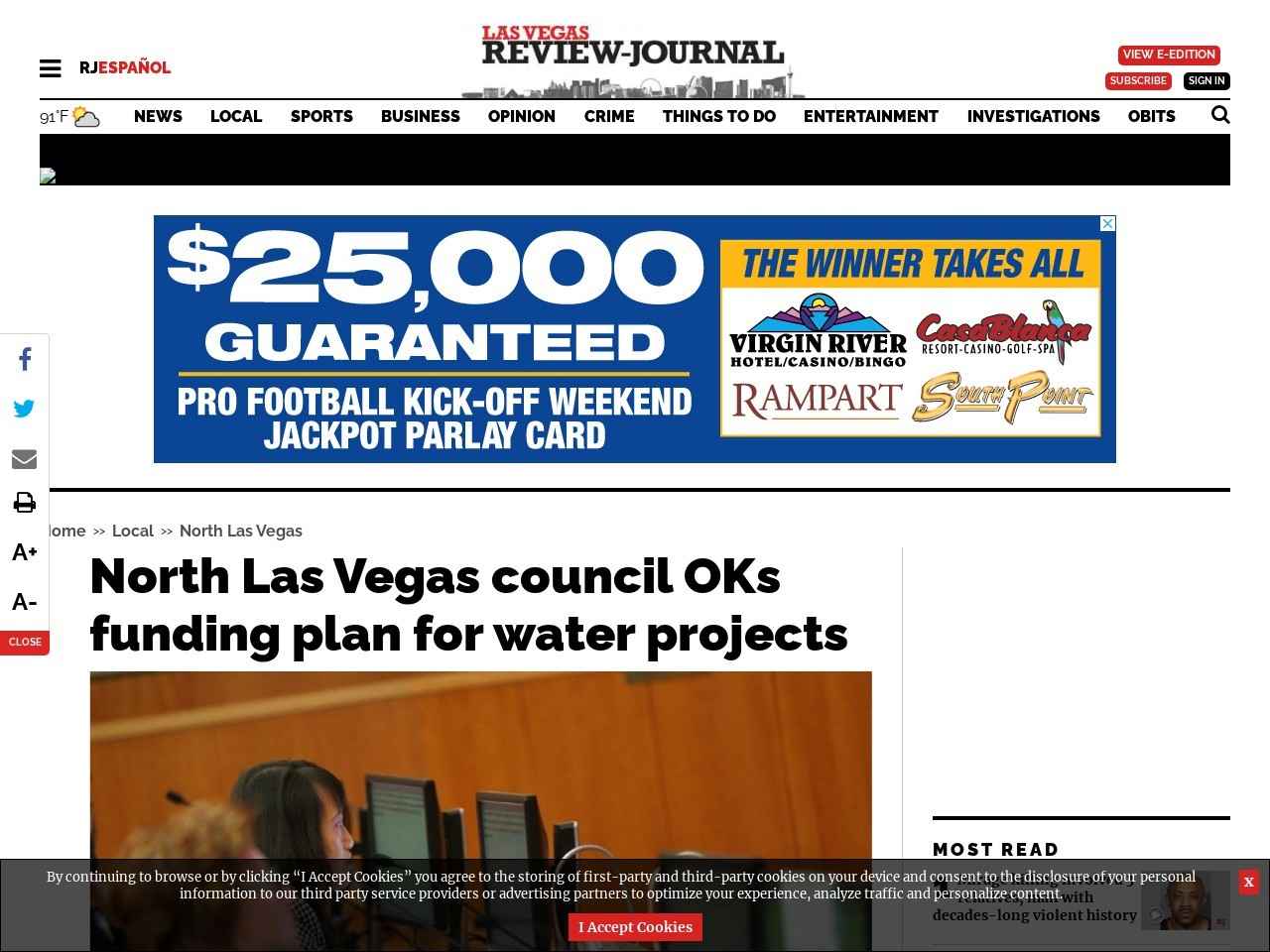 North Las Vegas council OKs funding plan for water projects