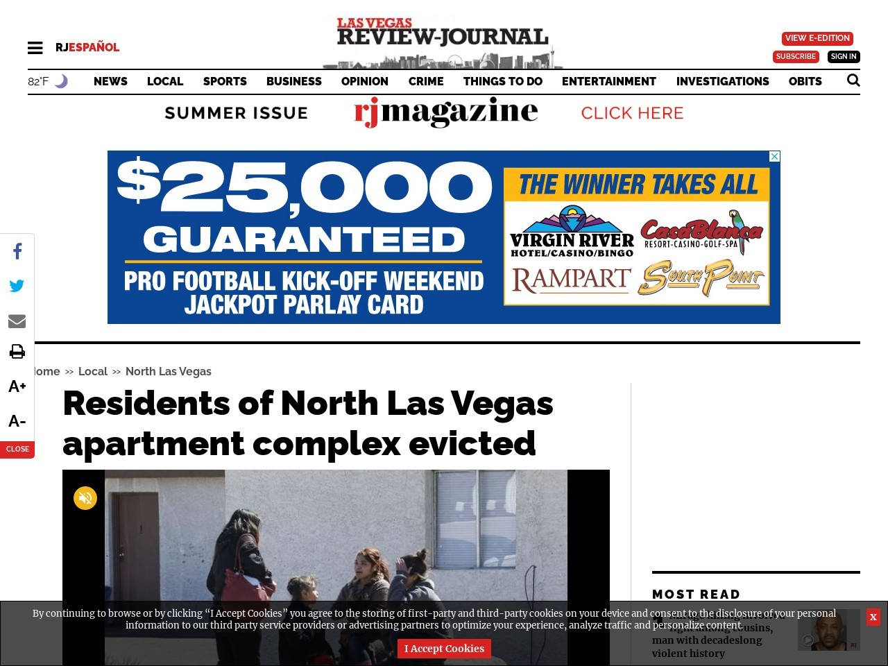 Residents of North Las Vegas apartment complex evicted