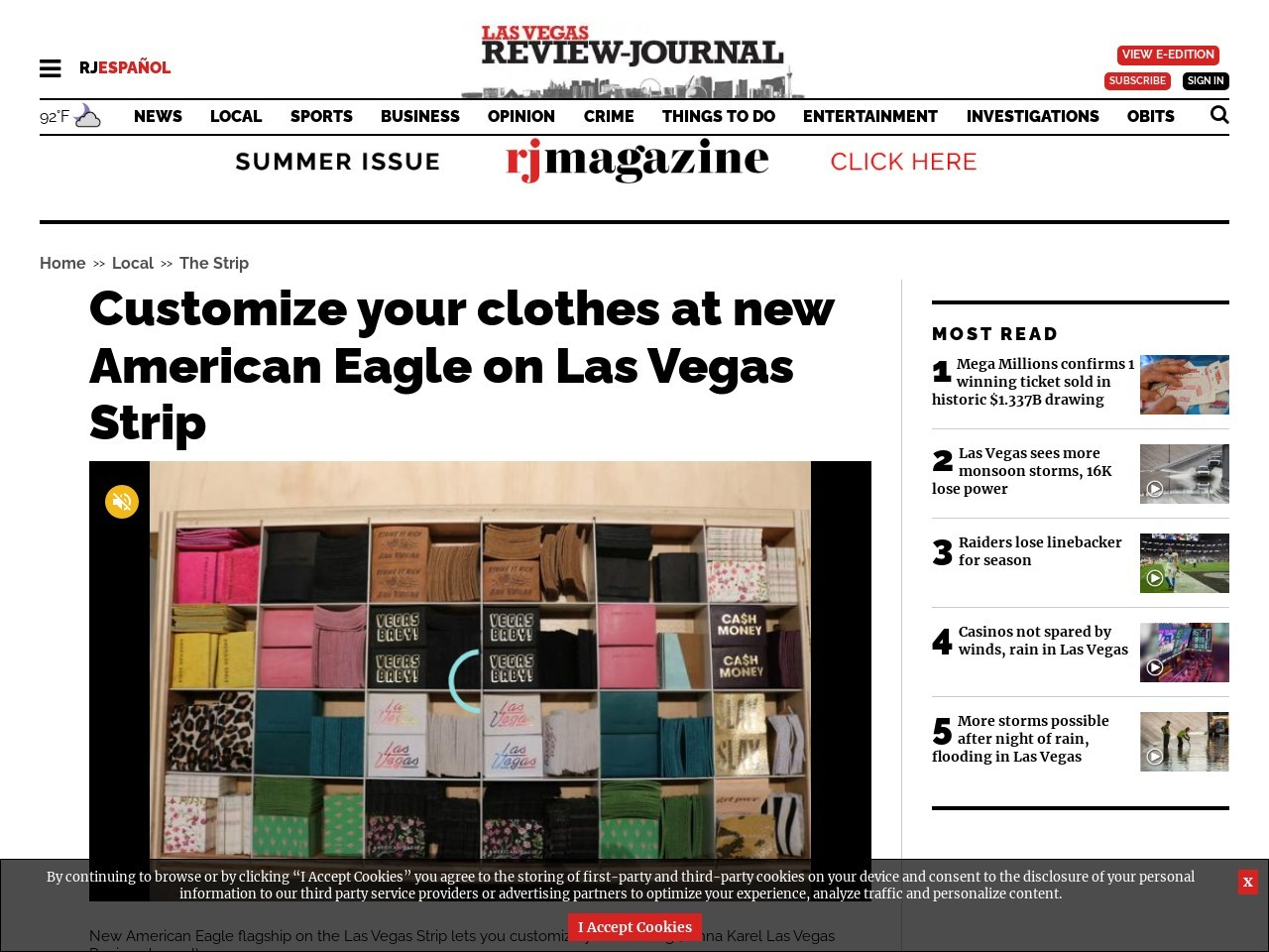 Customize your clothes at new American Eagle on Las Vegas Strip