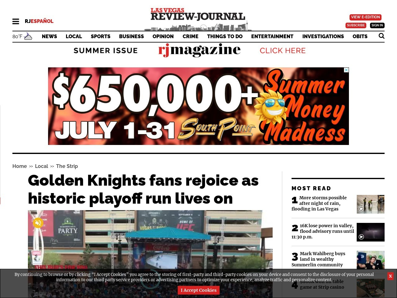 Golden Knights fans rejoice as historic playoff run lives on