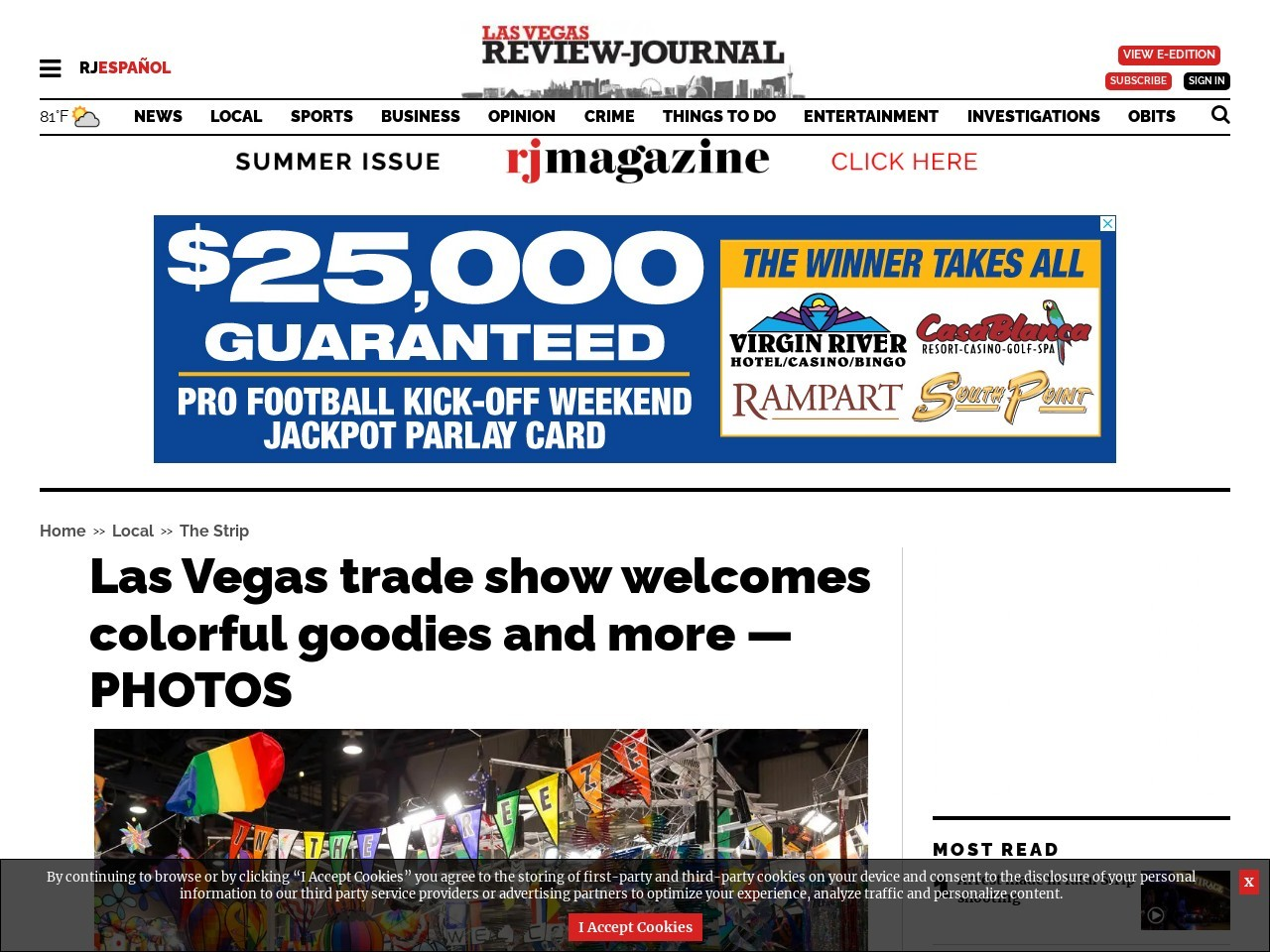Las Vegas trade show welcomes colorful goodies and more — PHOTOS
