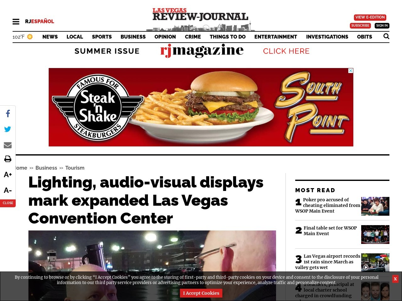 Lighting, audiovisual displays mark expanded Las Vegas Convention Center