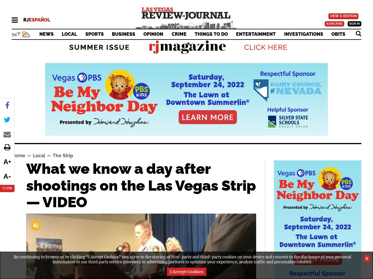 What we know a day after shootings on the Las Vegas Strip — VIDEO
