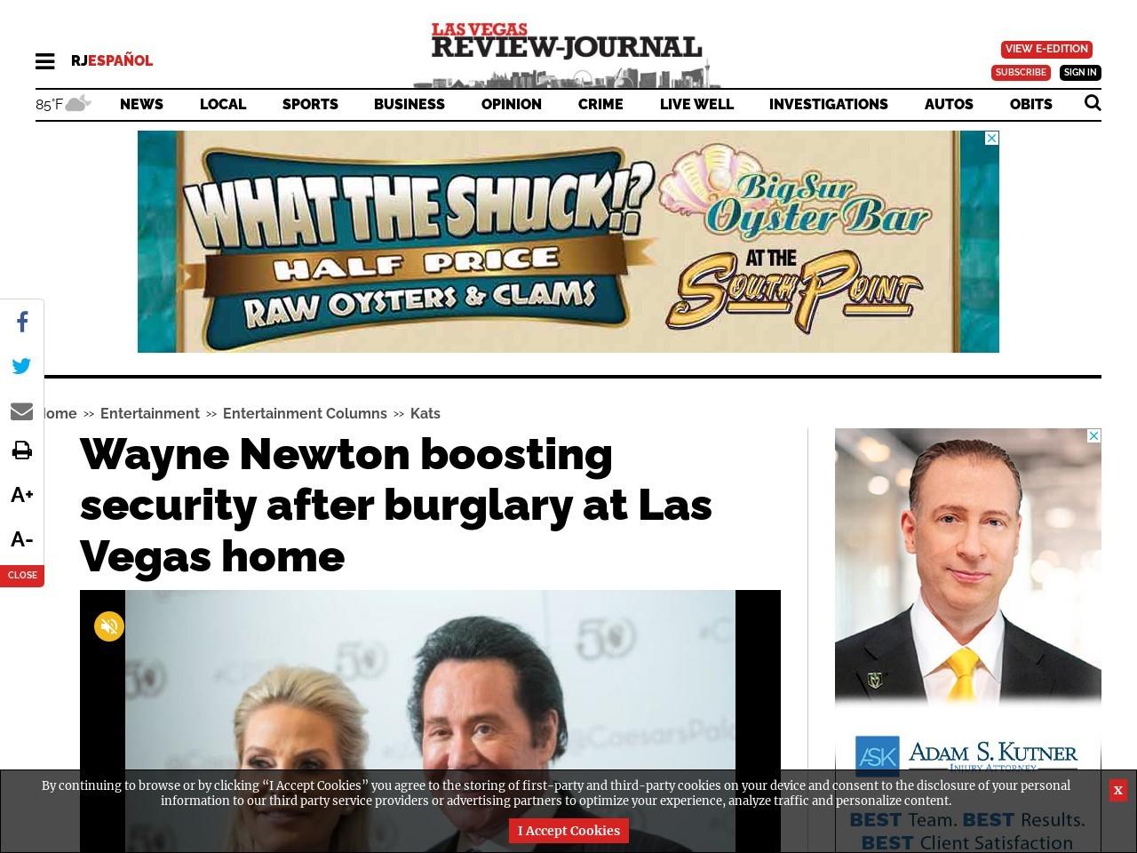 Wayne Newton, wife scare off burglars at Las Vegas home