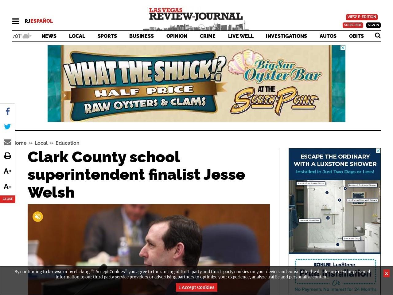 Clark County school superintendent finalist Jesse Welsh