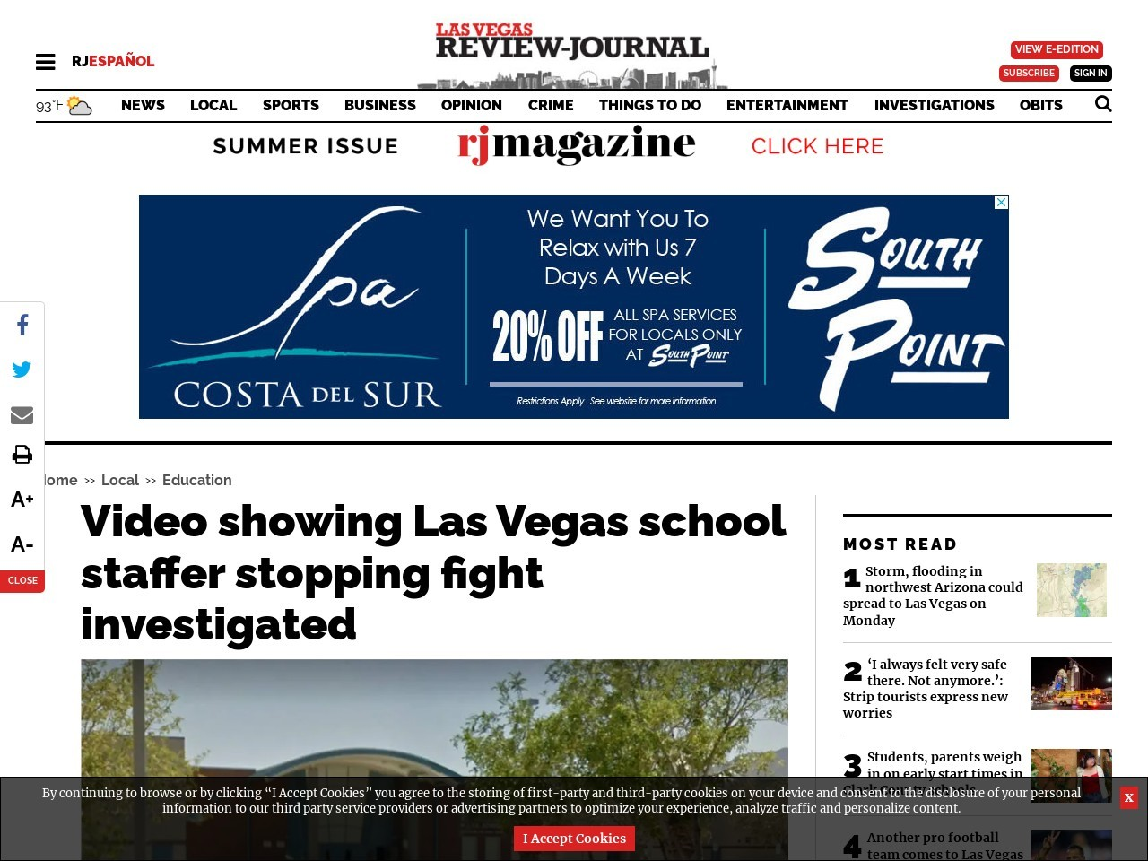 Video shows Las Vegas middle school staffer knocking student down