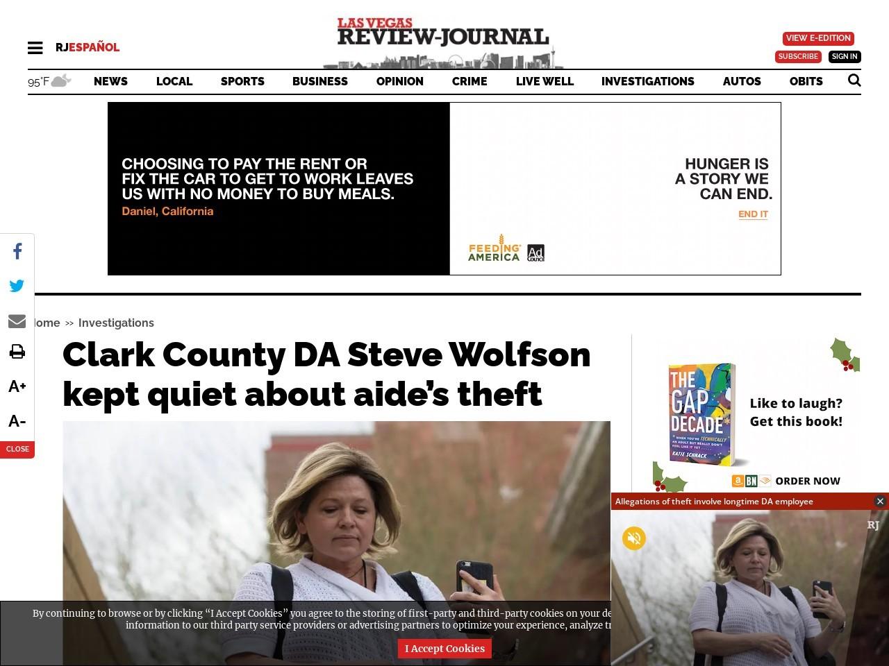 Clark County DA Steve Wolson kept quiet about aide's theft