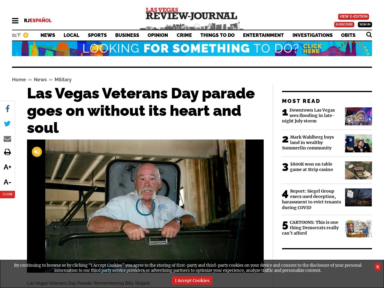 Las Vegas Veterans Day parade goes on without its heart and soul