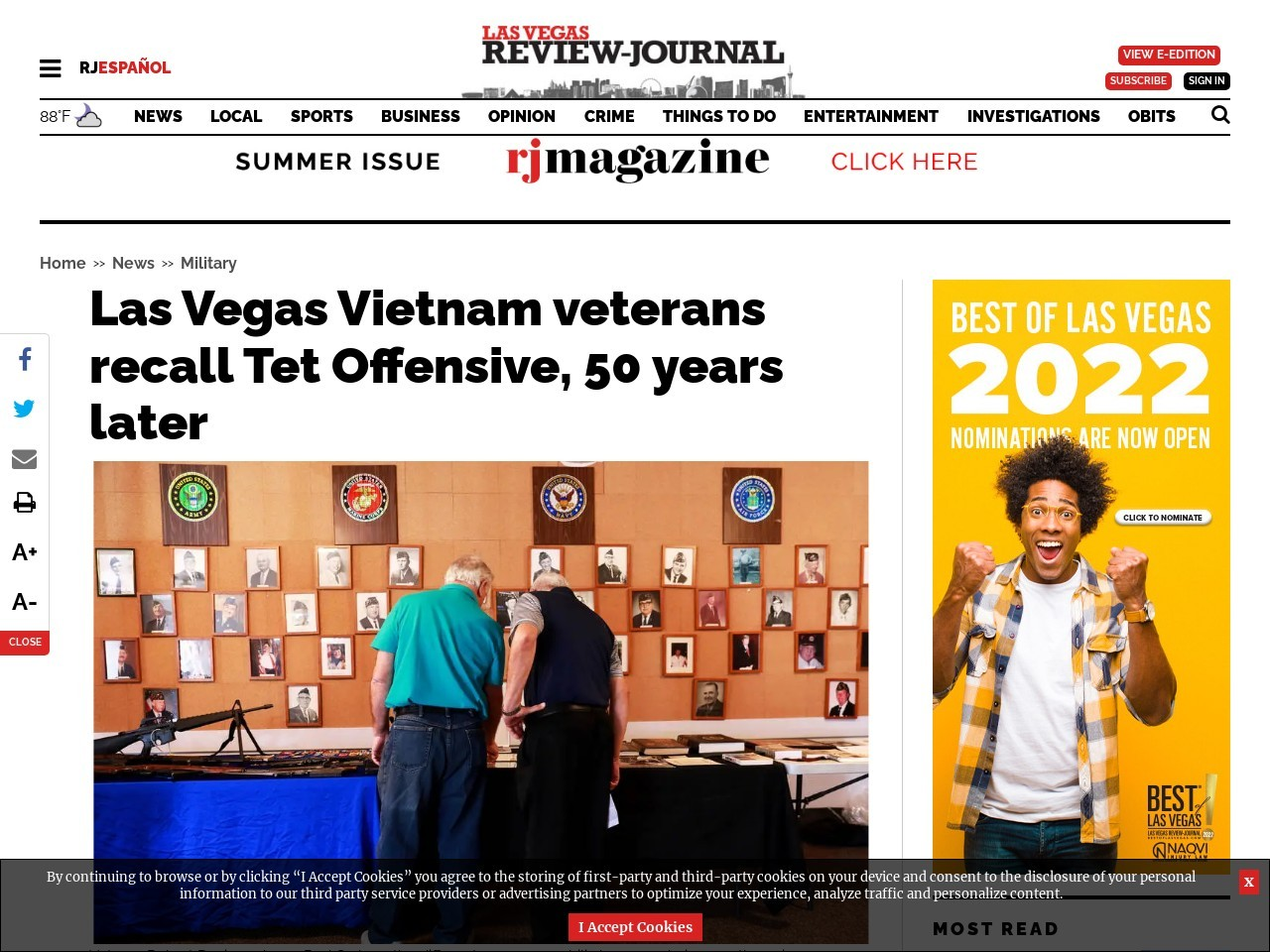 Las Vegas Vietnam veterans recall Tet Offensive, 50 years later