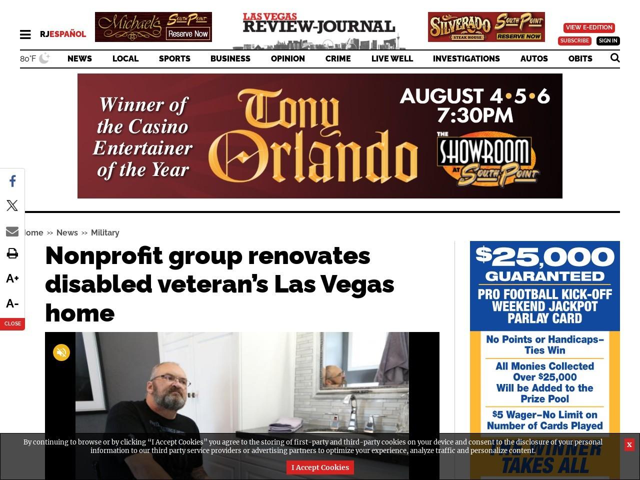 Nonprofit group renovates disabled veteran's Las Vegas home