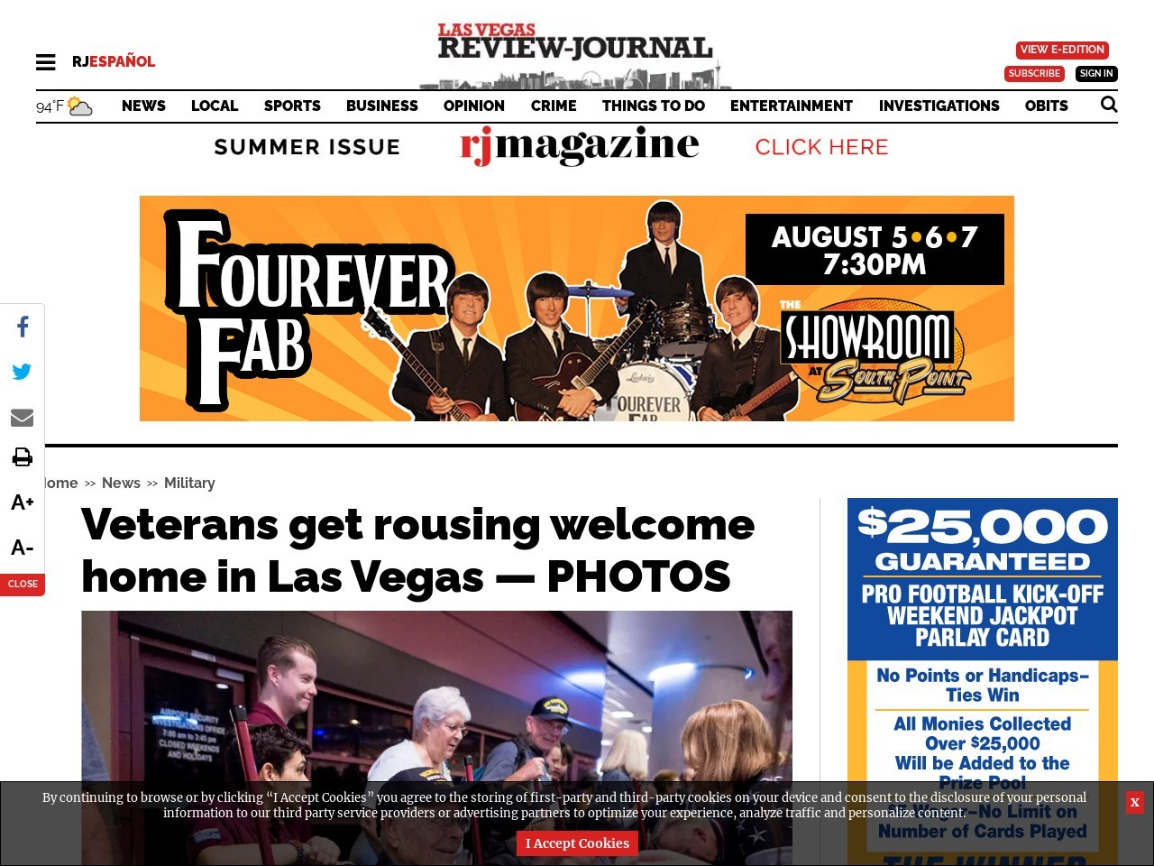Veterans get rousing welcome home in Las Vegas — PHOTOS