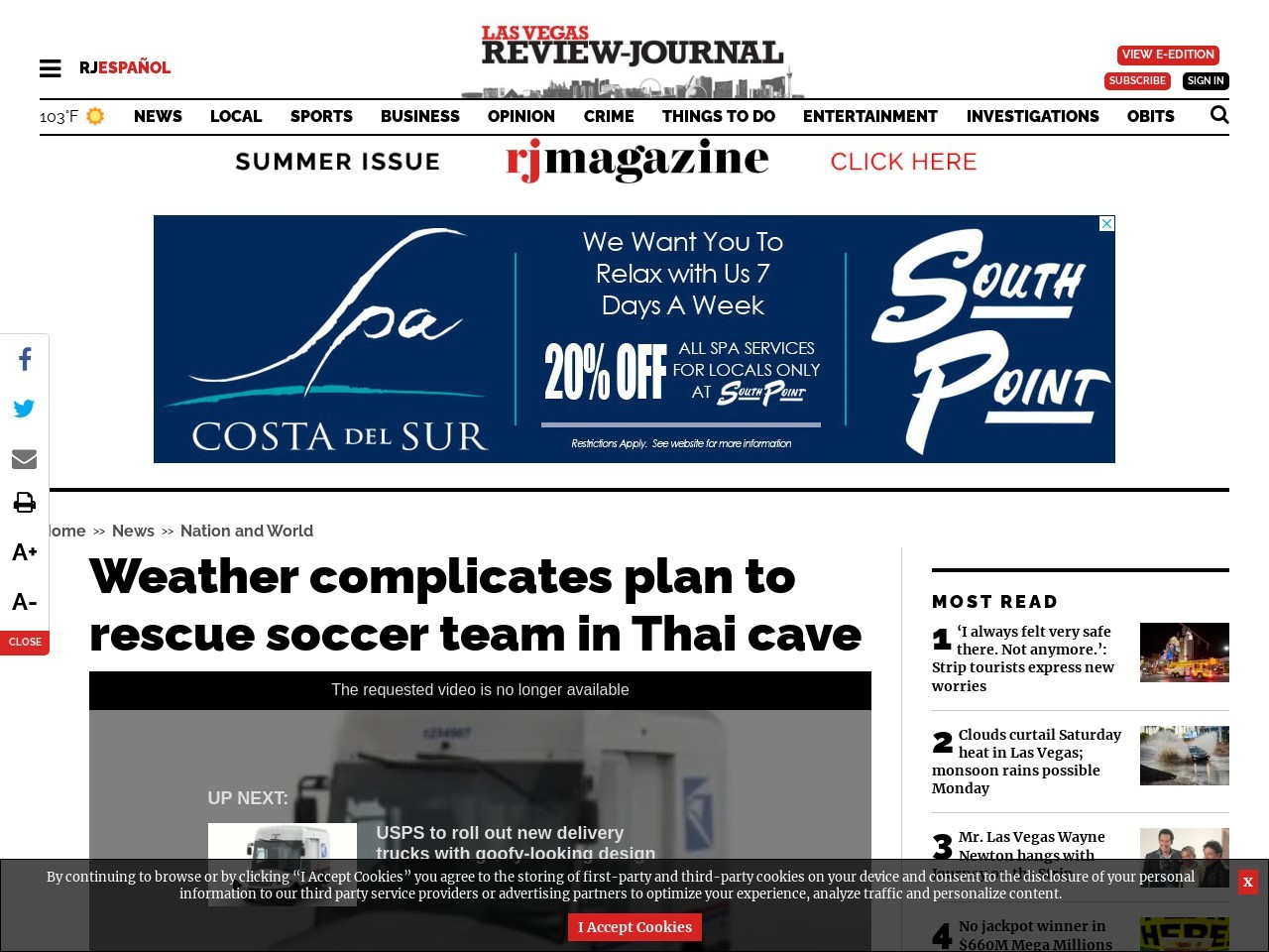 Weather complicates plan to rescue soccer team in Thai cave