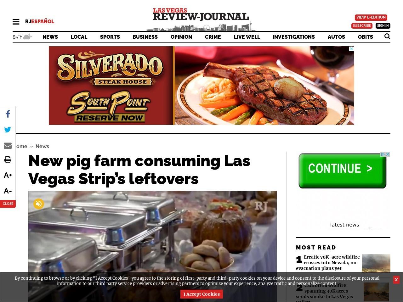 New pig farm consuming Las Vegas Strip's leftovers