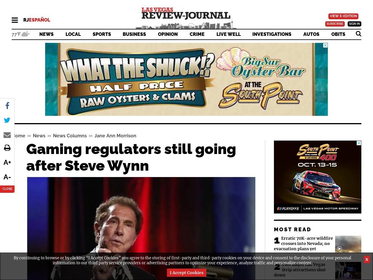 Gaming regulators still going after Steve Wynn