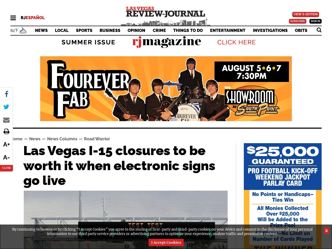 Las Vegas I-15 closures to be worth hassle when ATM signs go live