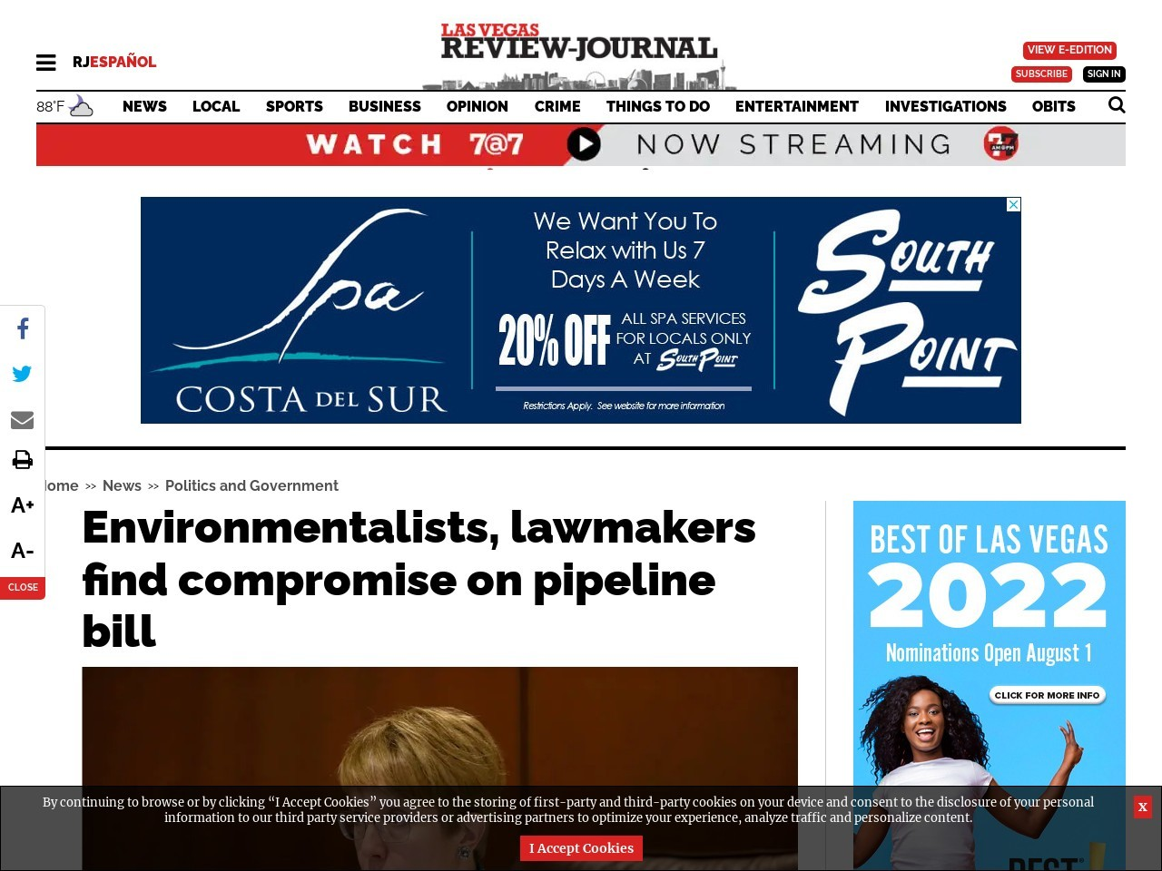 Environmentalists, lawmakers find compromise on pipeline bill