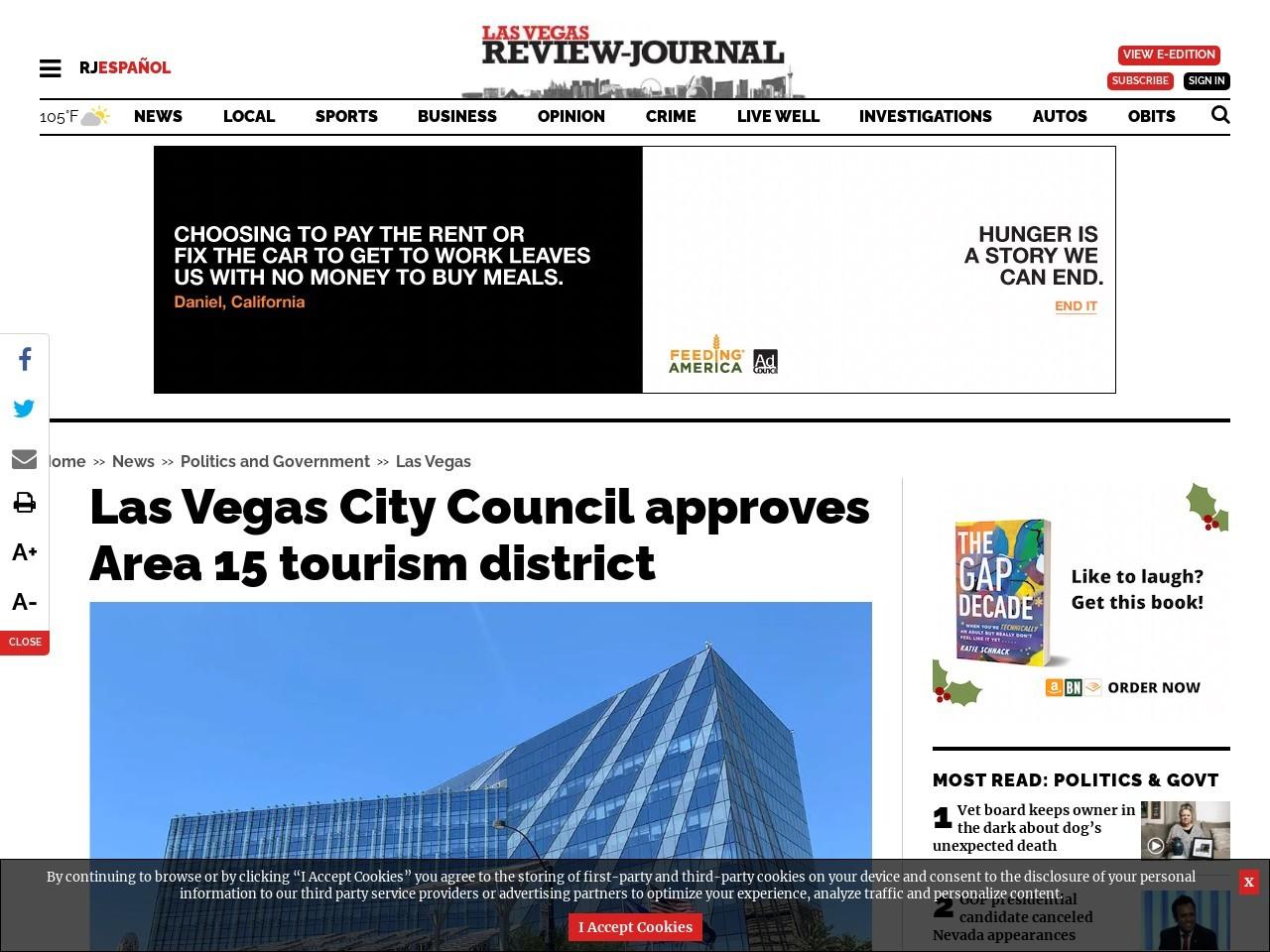 Las Vegas City Council approves Area 15 tourism district