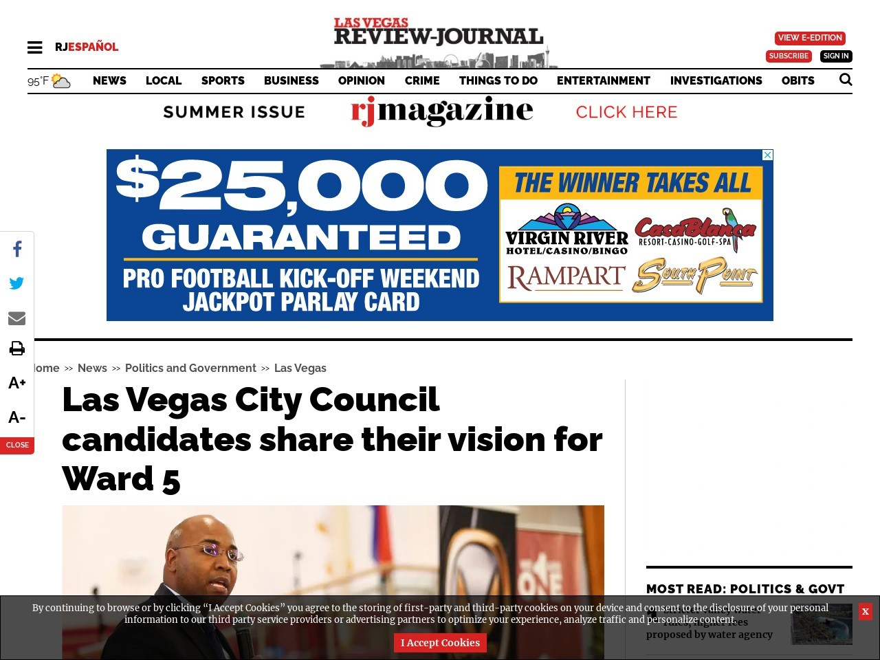 Las Vegas City Council candidates share their vision for Ward 5