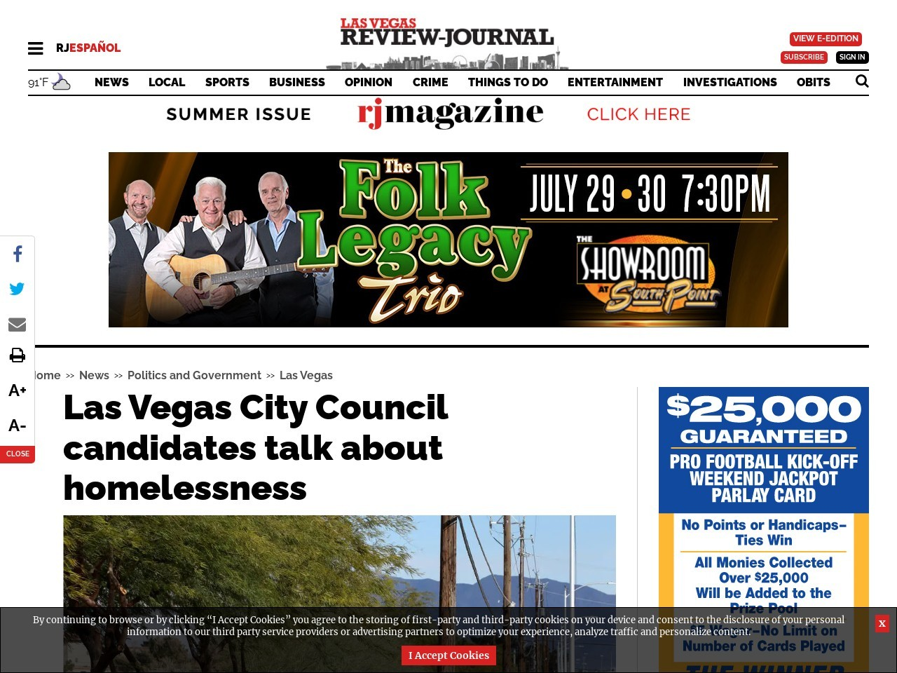 Las Vegas City Council candidates weigh in on homelessness