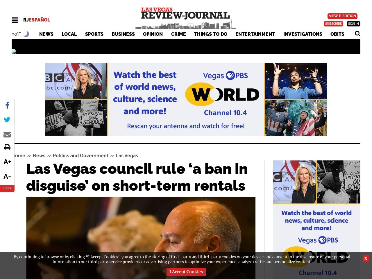 Las Vegas council new rule called 'a ban in disguise' on Airbnb