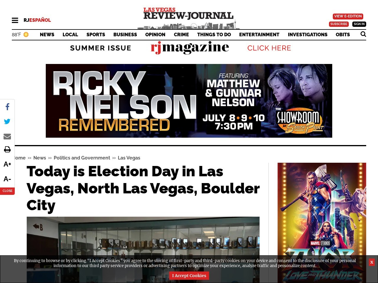 Tuesday is Election Day in Las Vegas, North Las Vegas and Boulder City