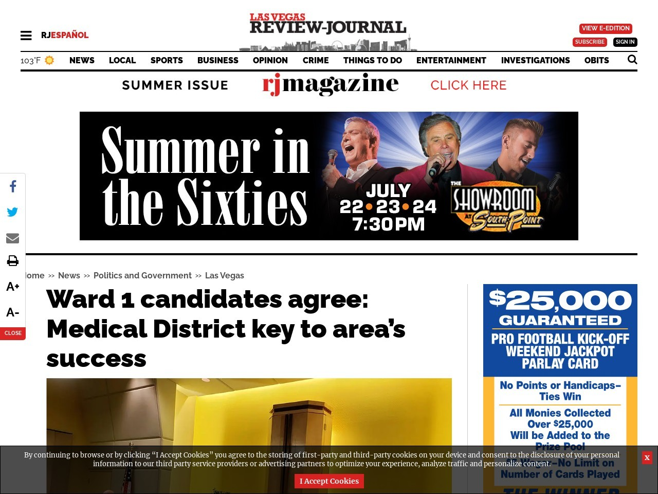 Ward 1 candidates agree: Medical District key to area's success