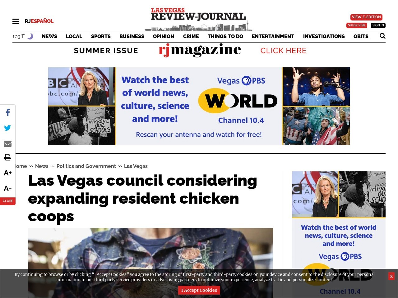 What the cluck? Las Vegas council to weigh chicken law