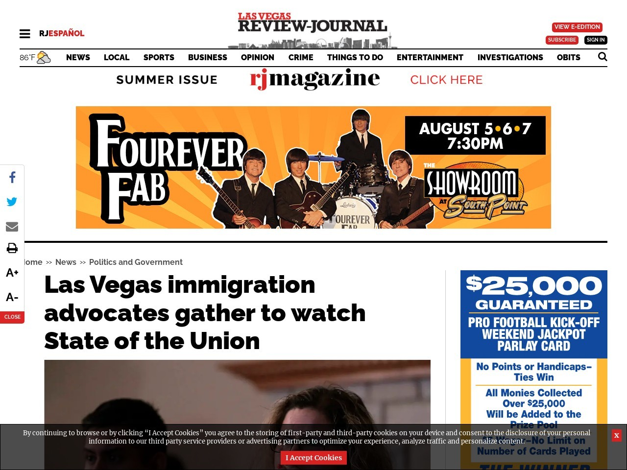 Las Vegas immigration advocates gather to watch State of the Union