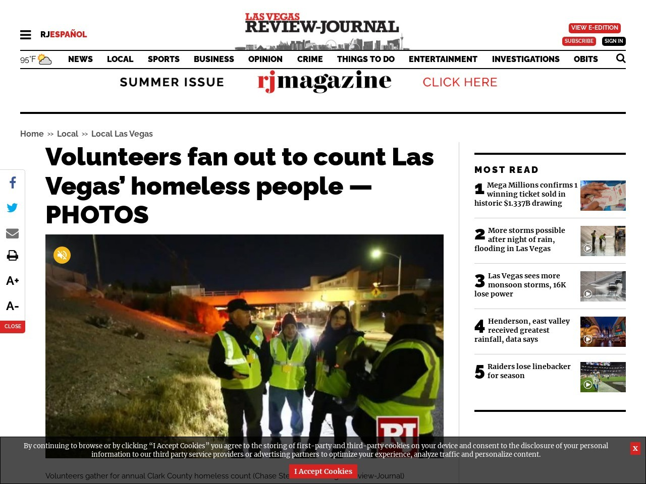 Volunteers fan out across Las Vegas Valley for homeless count