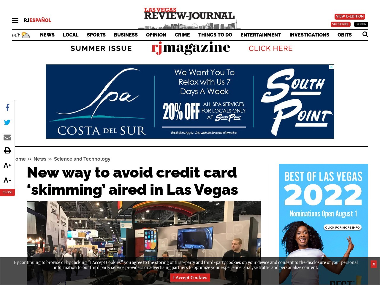 New way to avoid credit card 'skimming' aired at Las Vegas conference