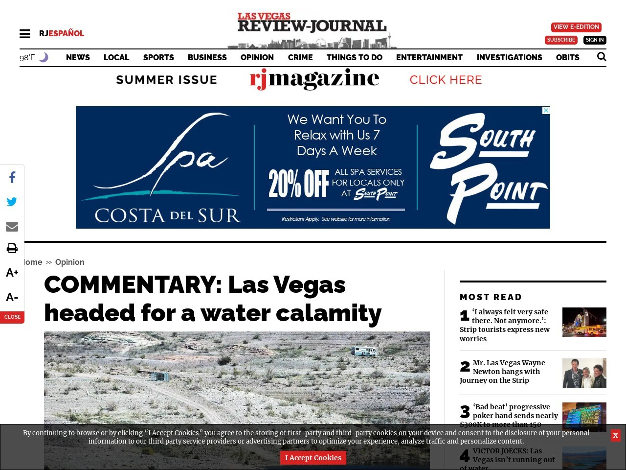 COMMENTARY: Las Vegas headed for a water calamity