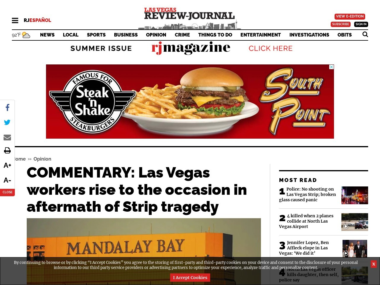 COMMENTARY: Las Vegas workers rise to the occasion in aftermath of Strip tragedy