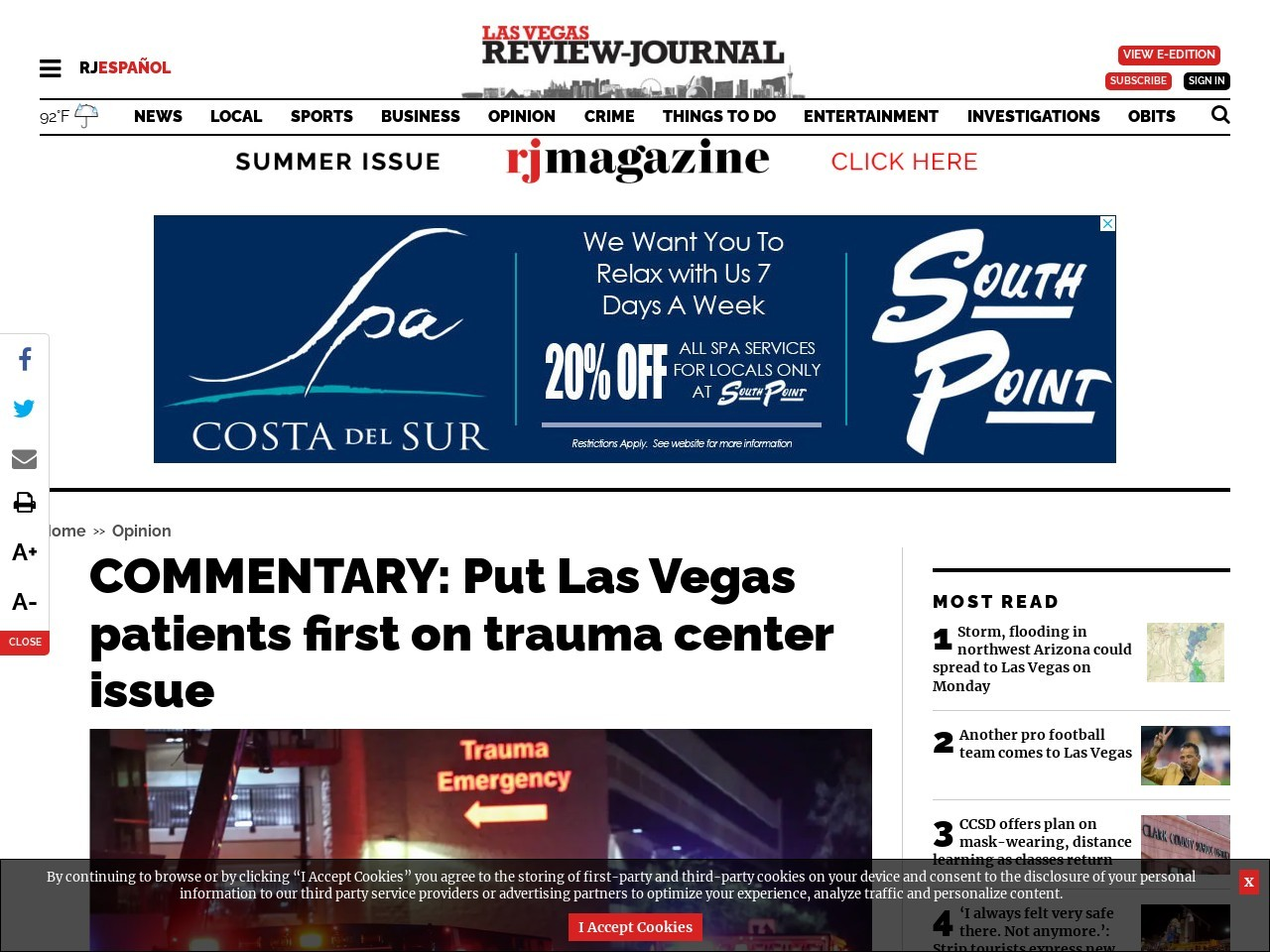 COMMENTARY: Put Las Vegas patients first on trauma center issue